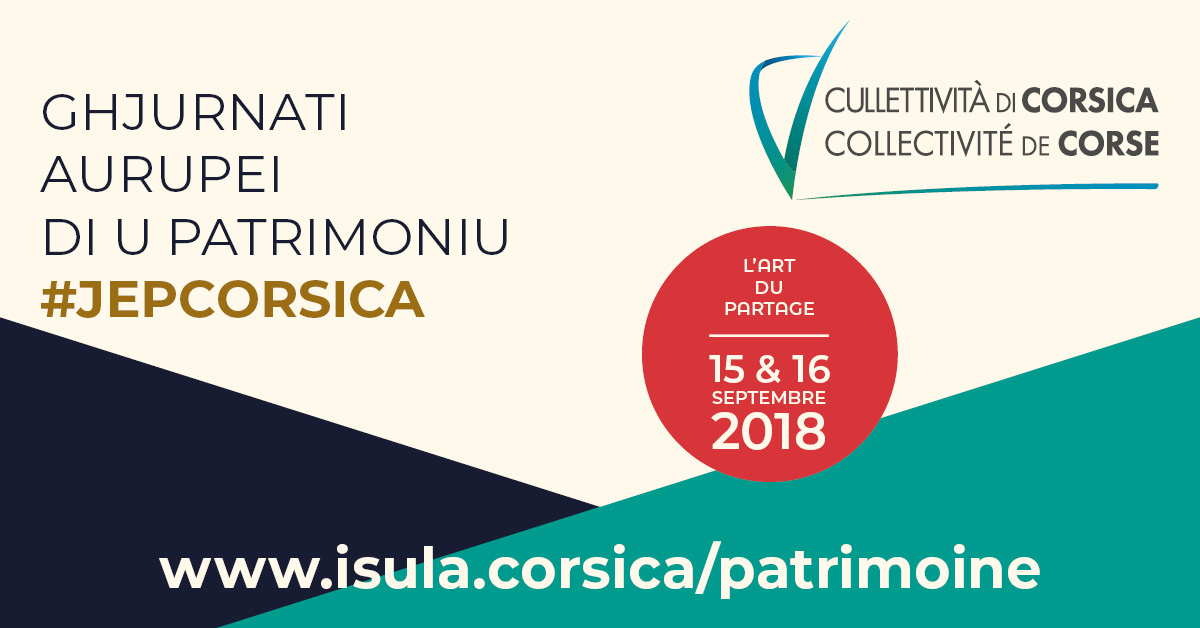 Le Programme des Journées européennes du patrimoine 2018 de la Collectivité de Corse