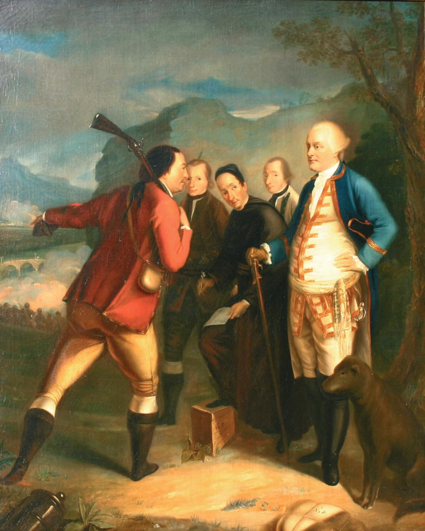 Henry Benbridge - Pascal Paoli à la bataille de Ponte Novu 1769 Huile sur toile 105 x 85 cm © Merusaglia, Musée de la maison natale de Pascal Paoli