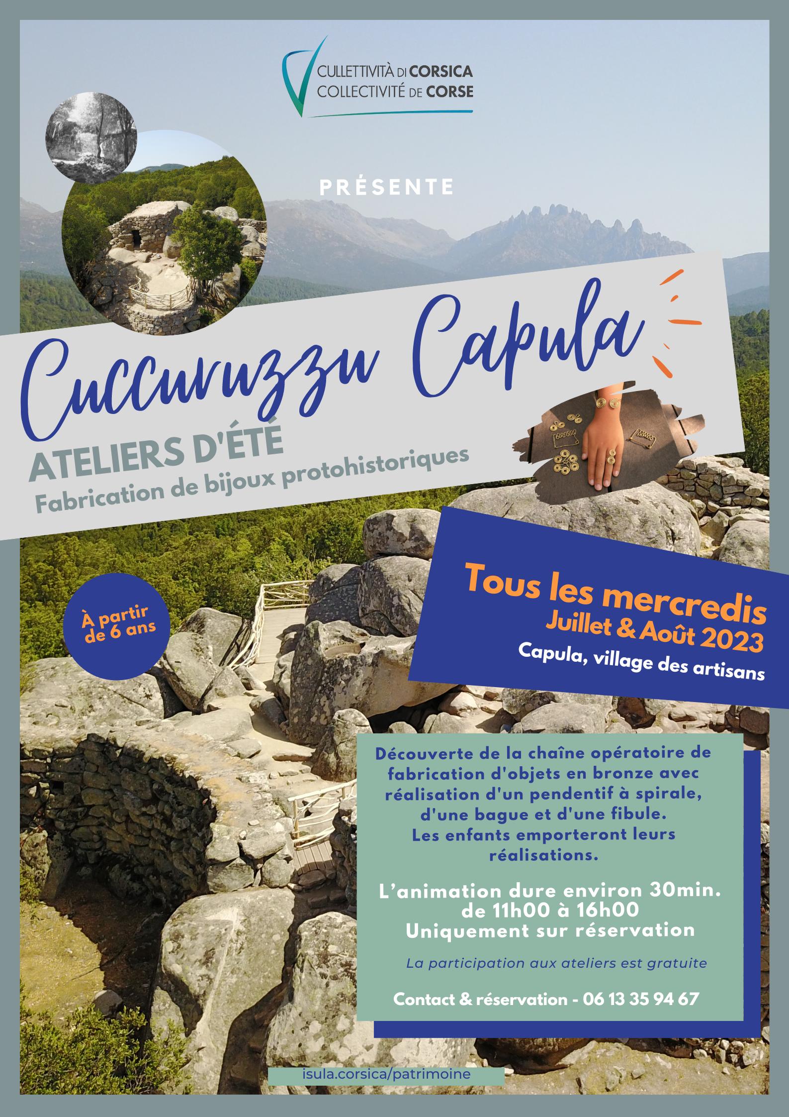 Les ateliers d'été sur les sites archéologiques de Cuccuruzzu-Capula | Saison 2021