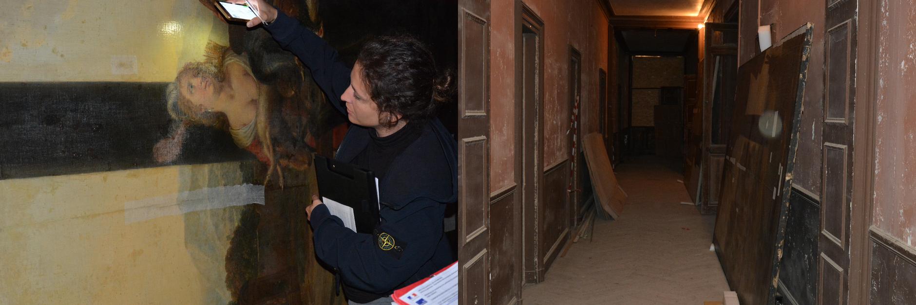 Vues des œuvres dans le château de la Punta