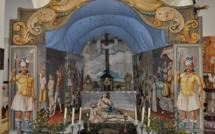 Sepulcru en pavillon, dans l'église de Ficaja (Castagniccia), deuxième moitié du XVIIIe siècle (vers 1770), attribuable au peintre Francesco Carli. cl. M-E Nigaglioni