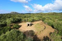 Vue aérienne, dolmen