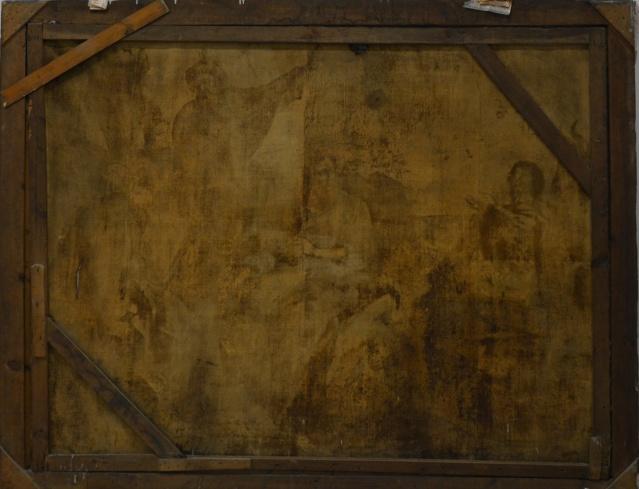 Revers d'un tableau conservé dans les réserves du CCRPMC-1
