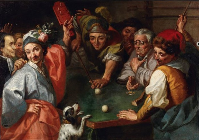 le joueur de billard, entourage de Carlo Amalfi