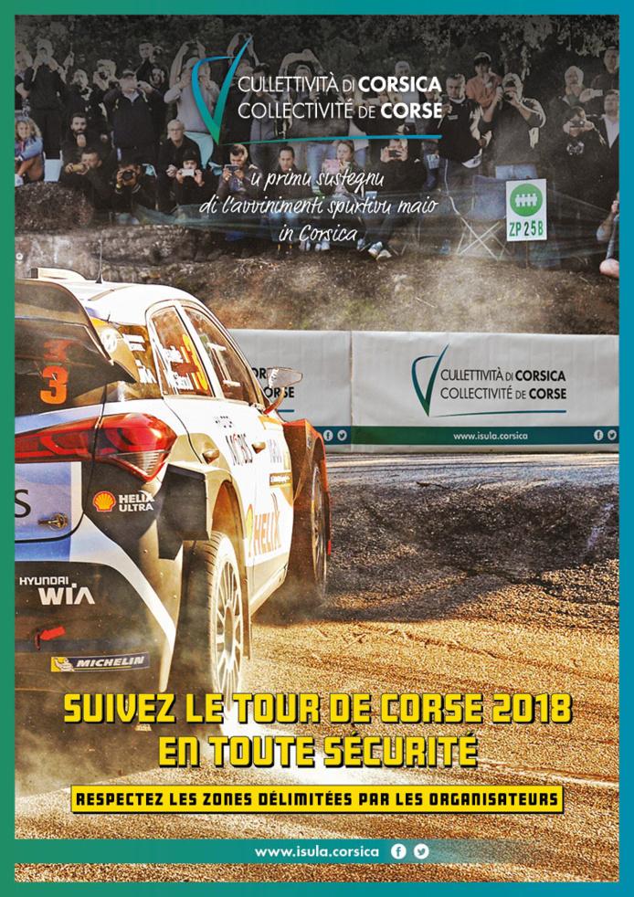 La Collectivité de Corse, 1er partenaire institutionnel du Tour de Corse du  5 au 8 avril 2018