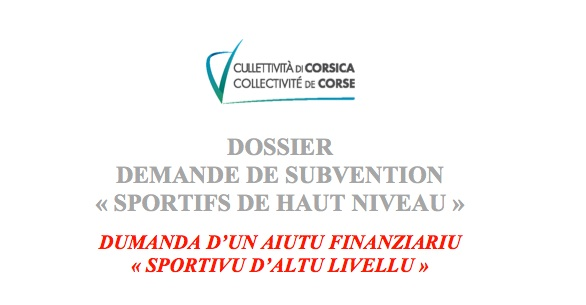 """Demande de subvention """" sportifs de haut niveau """" : le dossier est en ligne"""