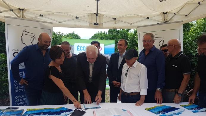 Signatures de la Charte pour une gestion raisonnée de la ressource en eau