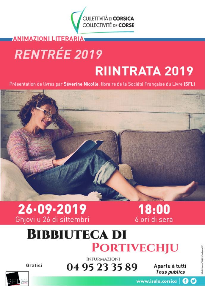 Animazioni literaria - Riintrata 2019
