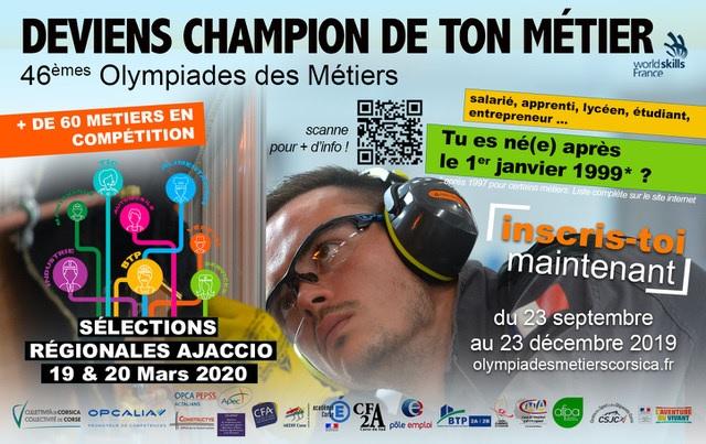 Sélections régionales des Olympiades des Métiers. Les inscriptions sont ouvertes !