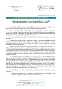 Attribuzioni di una prima eccizziunali Covid-19 da a Cullittività di Corsica in u sittori medicusuciali