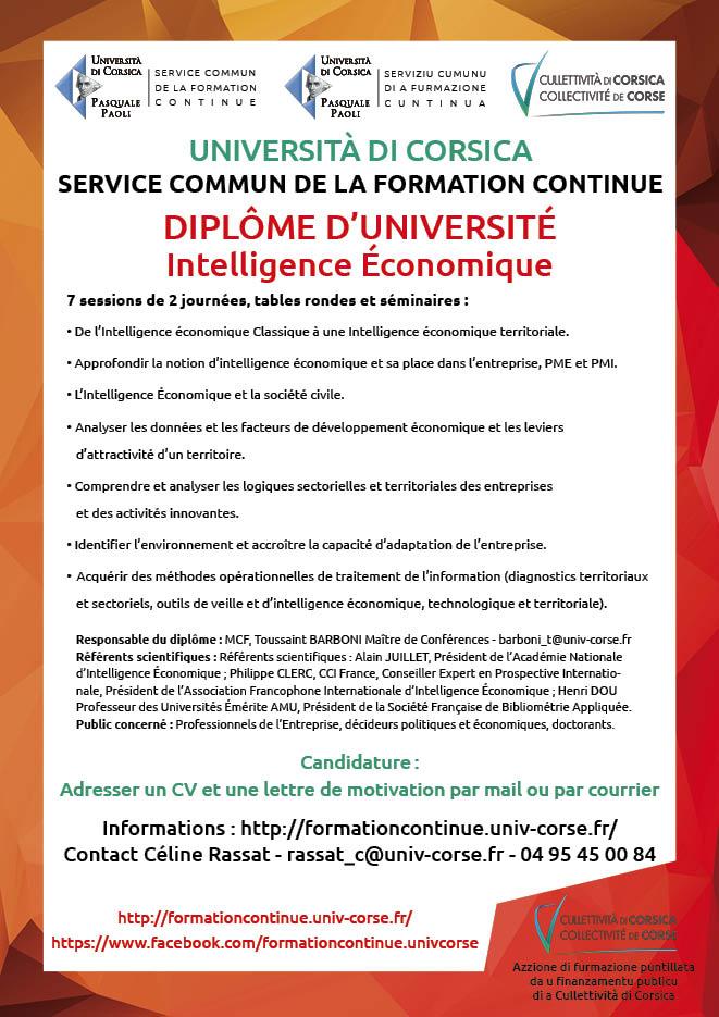Prugramma d'azzioni cumplimintari d'insignamentu supirirori 2020-2021 di l'Università di Corsica