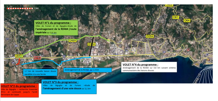 La Collectivité de Corse lauréate de l'appel à projet du fonds mobilités actives «Aménagements Cyclables 2020»