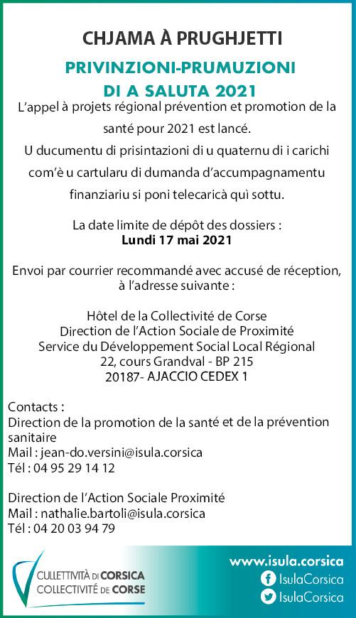 Appel à projets Prévention et promotion de la santé 2021-2022