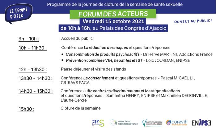 Journée de lancement de la Semaine de la santé sexuelle en Corse