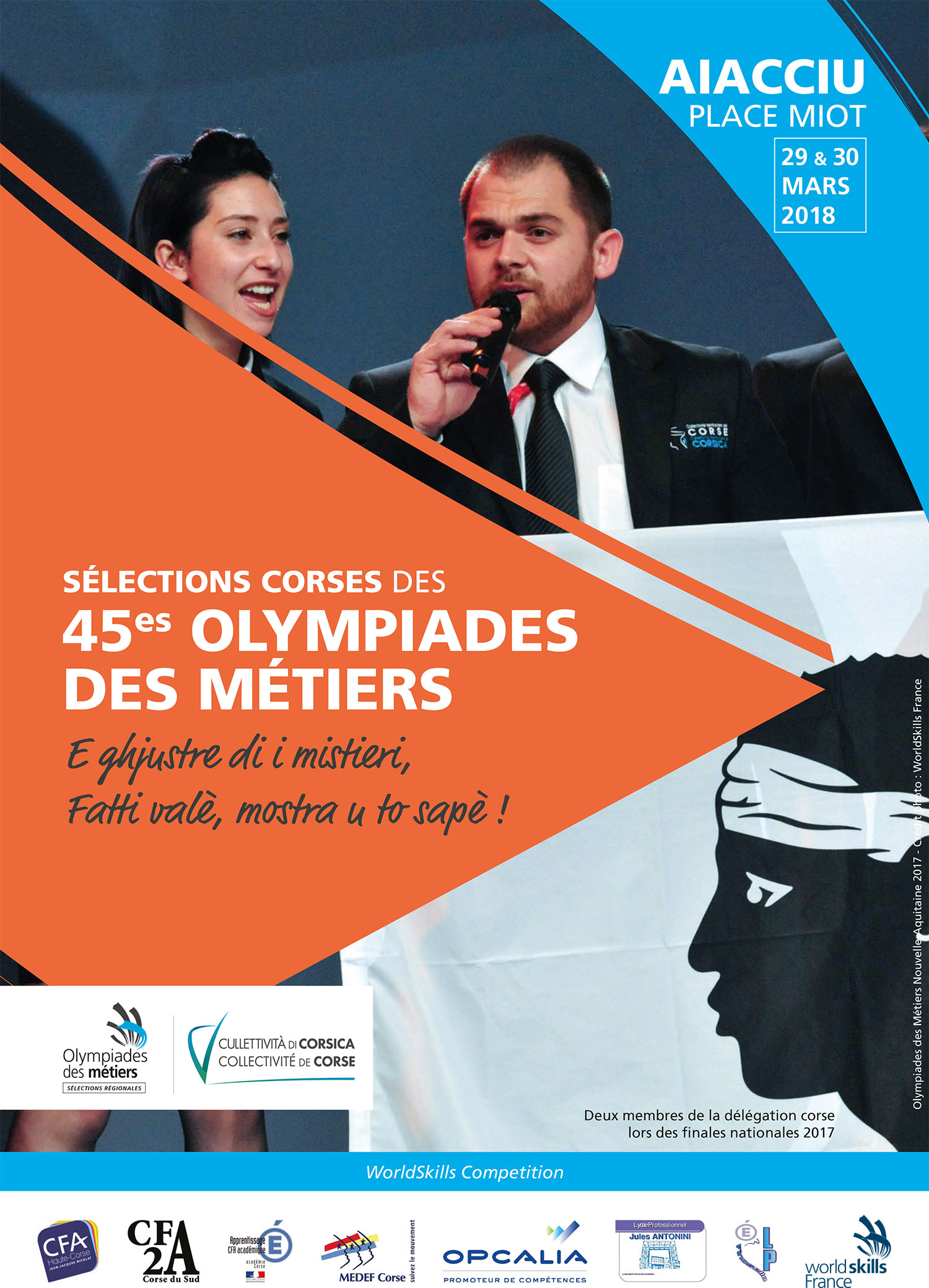Rassemblement des candidats à la sélection corse des Olympiades des métiers 2018