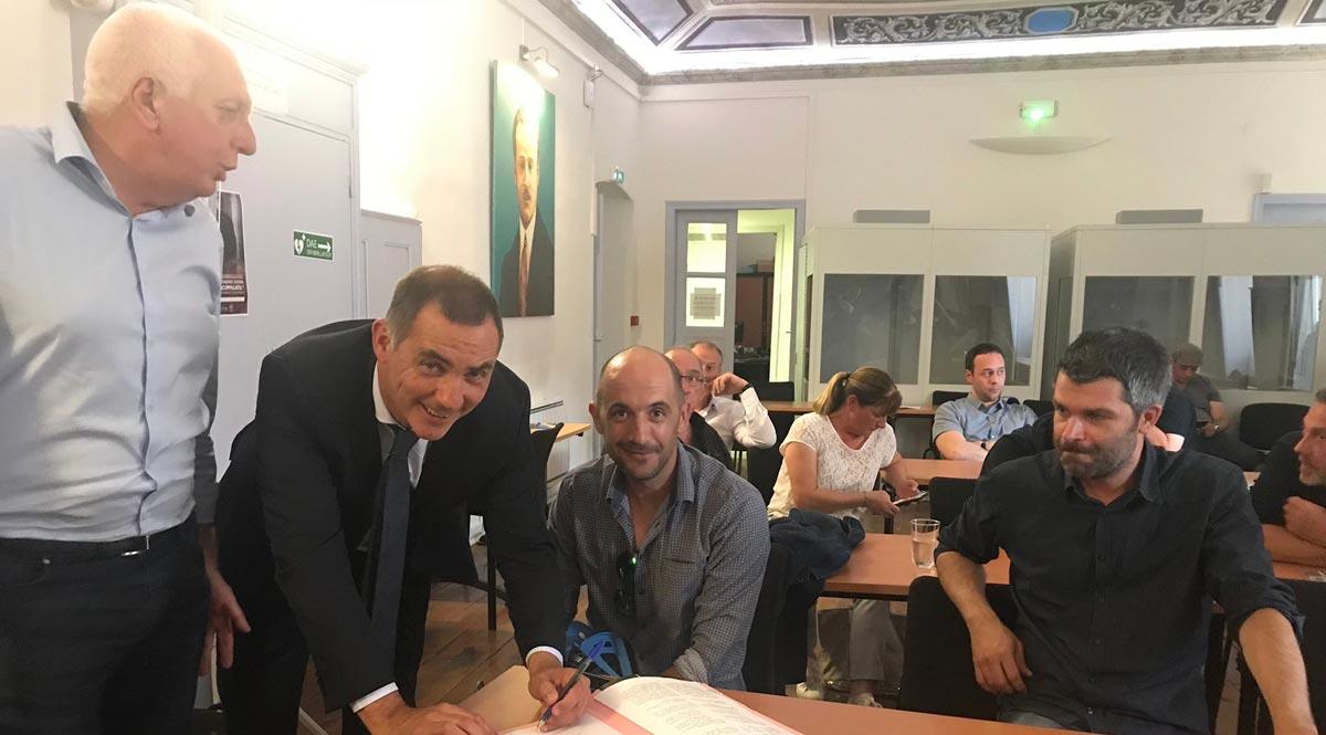 Signature des conventions « e Case di a Lingua »