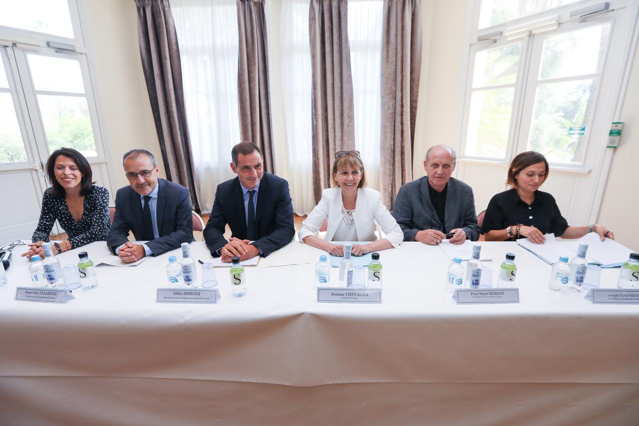 Signature de la convention d'application 2018-2022 entre la Collectivité de Corse, l'Etat et l'Université de Corse