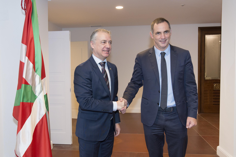 Rencontre entre le Chef du Gouvernement basque, Iñigo Urkullu et le Président du Conseil exécutif de Corse