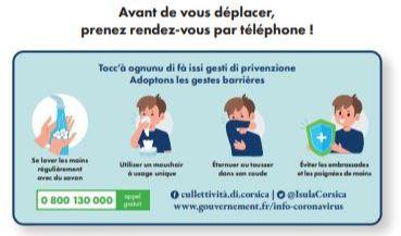 Organizazione di l'accuglienza di u publicu in i servizii suciali è di salute - Mesures d'accueil du public des services sociaux et santé (DGASS) de la Collectivité de Corse