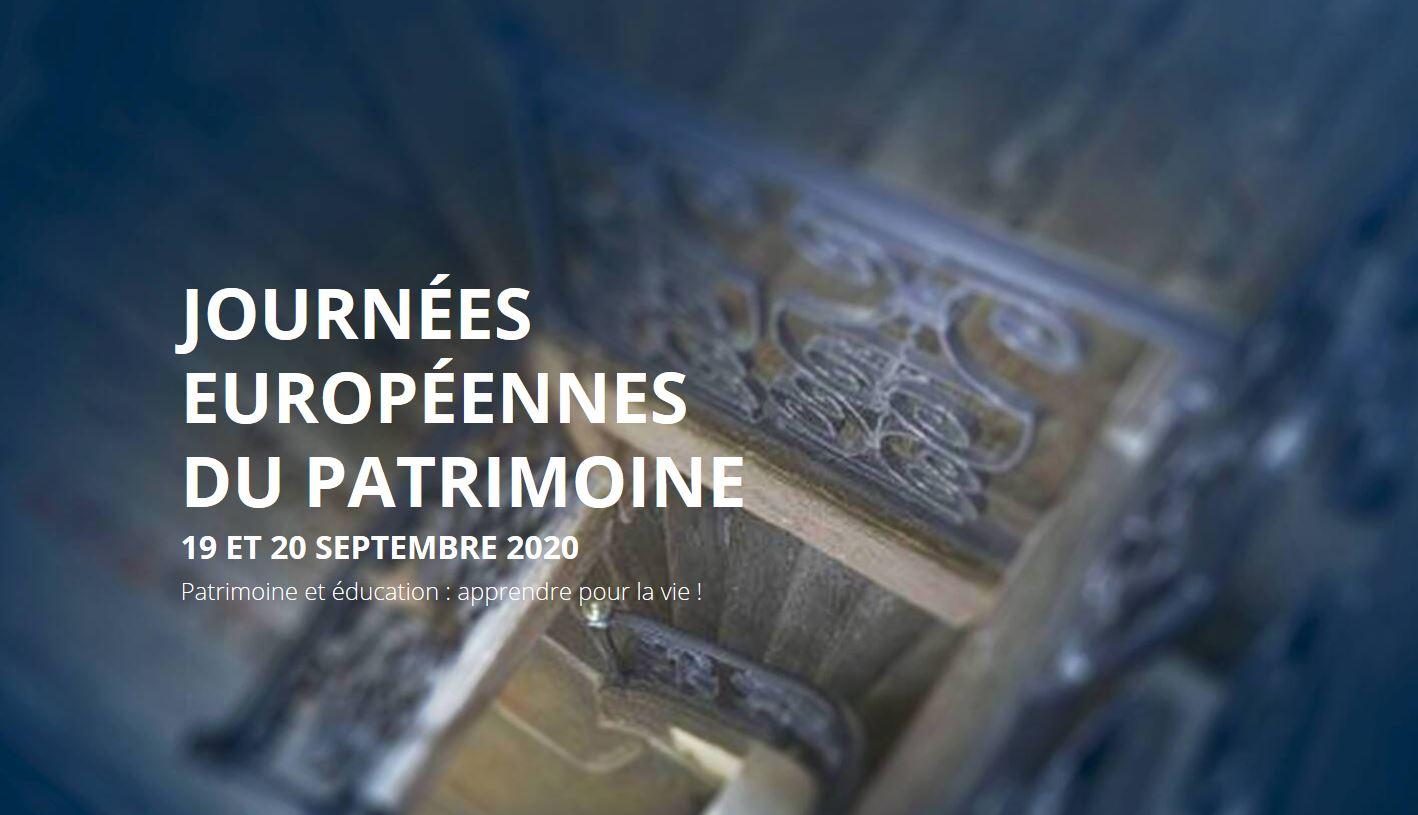 Inscriptions aux Journées européennes du patrimoine 2020