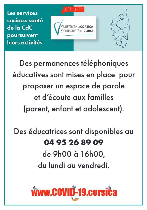 Permanenza  telefonica d'ascoltu educativu - Permanence téléphonique d'écoute éducative