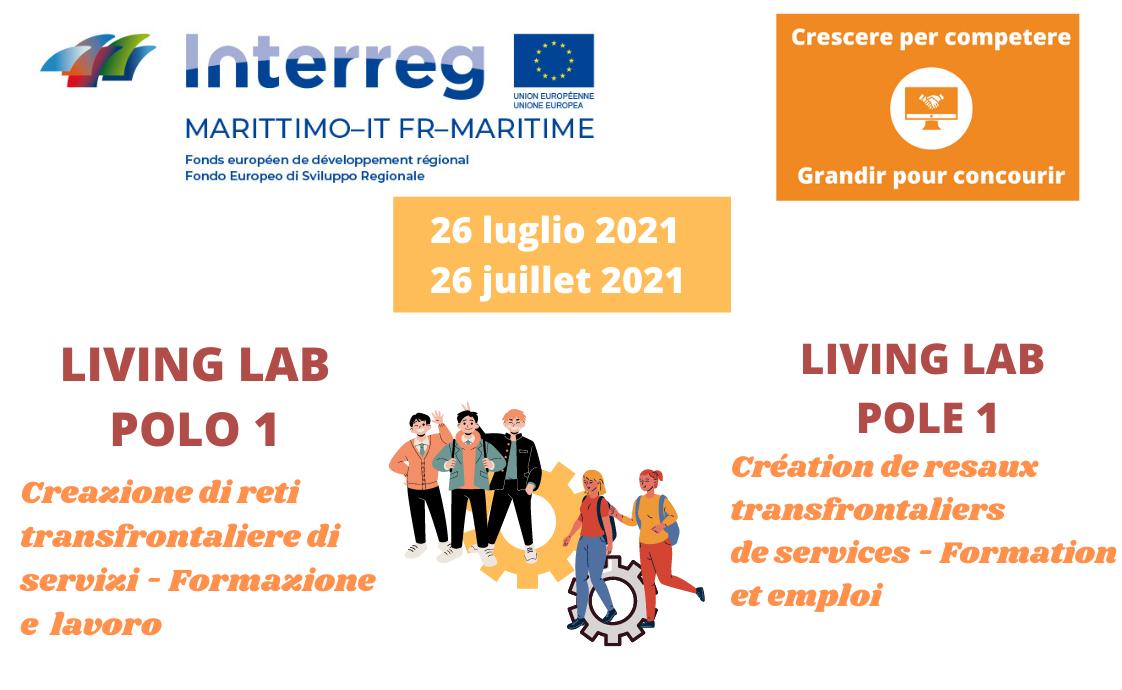 """Interreg Italie-France Maritime : Living Lab de capitalisation """" Création de réseaux transfrontaliers de services - Cluster Formation et Emploi """""""