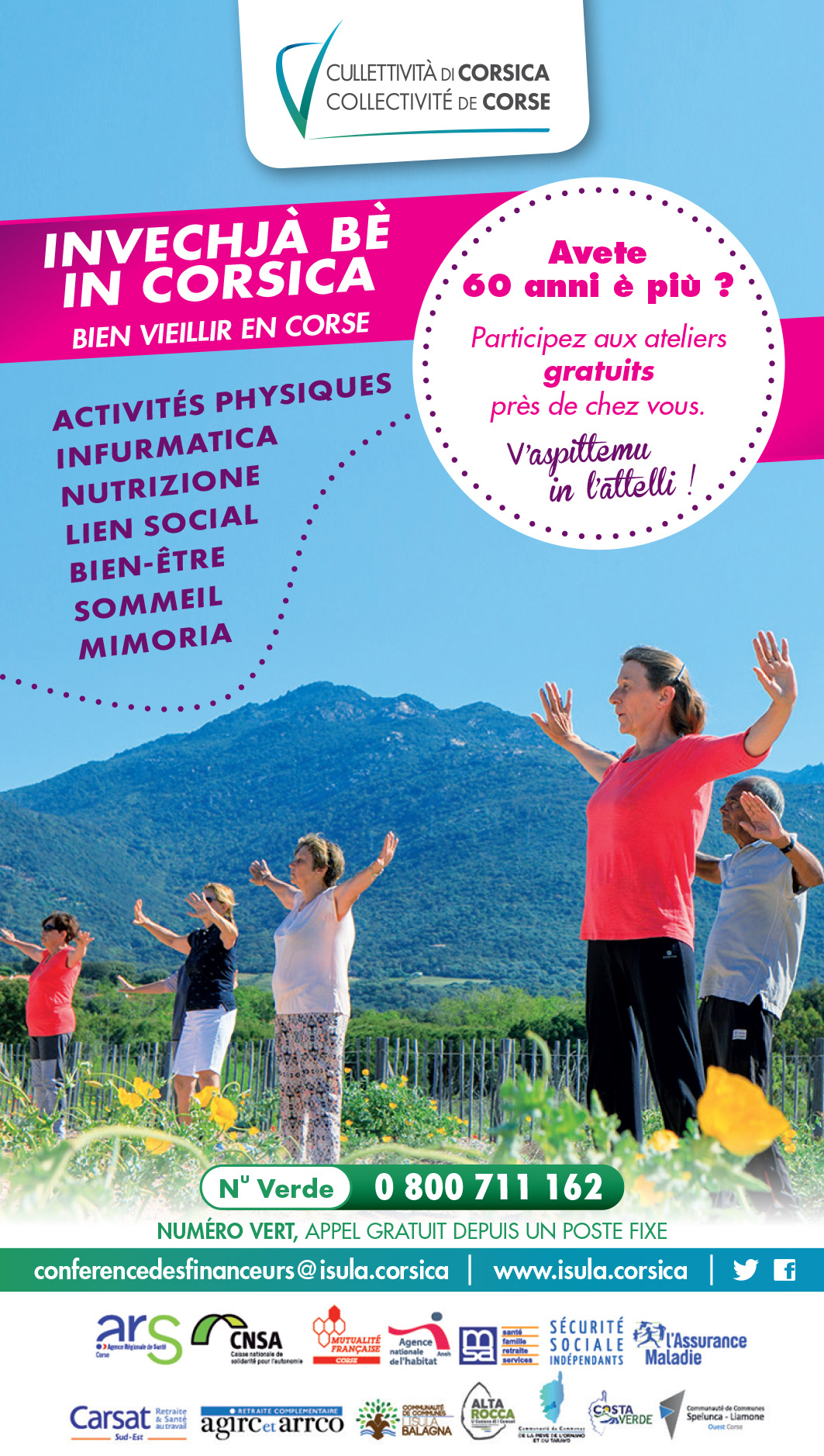 Invechjà bè in Corsica - Bien vieillir en Corse