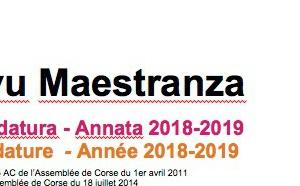 Dispusitivu Maestranza - cartulare di candidatura - annata 2018-2019