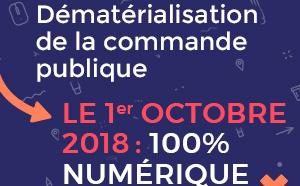Vous représentez une entreprise, une association..., vous souhaitez candidater à un marché public : à compter du 1er octobre 2018, la dématérialisation c'est pour toutes les procédures d'achats à partir de 25 000 € HT !