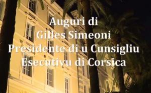 Auguri per u 2019 di Gilles Simeoni, Presidente di u Cunsigliu esecutivu di Corsica