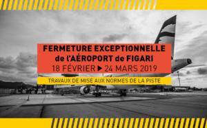 Fermeture de l'aéroport de Figari jusqu'au 24 mars 2019