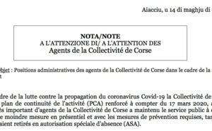 Reprise en présentiel le 18 mai / Note d'information sur les positions administratives des agents