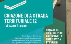 Mise en service dela section entre E1 et E2 de la voie nouvelle RT12 Bastia-Furiani