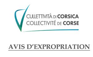 Avis d'expropriation - Ordonnance - Commune de LUCCIANA