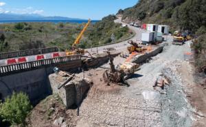 RD80 Pont d'Albu, Canari - La Collectivité de Corse informe les usagers sur l'avancement des travaux