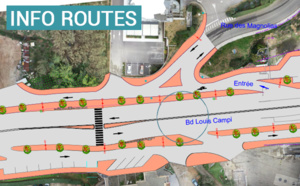 Infrastructures routières du Grand Aiacciu : Modification de l'accès sur le Boulevard Louis Campi
