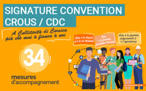 Signature de la nouvelle convention entre la Collectivité de Corse et le CROUS de Corse