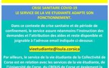 Crise sanitaire COVID19 - Le service de la vie étudiante adapte son fonctionnement.