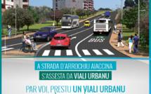 Aiacciu : Travagli di notti nantu à u viali Costa in u quatru di a riqualifica di a strada d'avvinta
